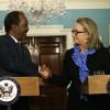 Madaxweynaha Soomaaliya oo kulan la qaatey Hillary Clinton